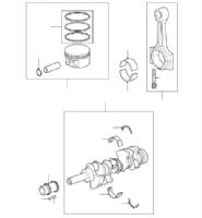 CRANKSHAFT, BEARINGS, PISTONS & RINGS